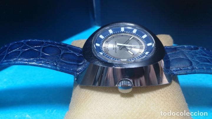 Relojes de pulsera: Botito reloj Orion grande de caballero con botita esfera azul marino, funcionando - Foto 14 - 139002582