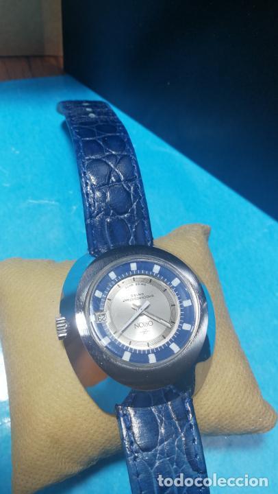 Relojes de pulsera: Botito reloj Orion grande de caballero con botita esfera azul marino, funcionando - Foto 15 - 139002582