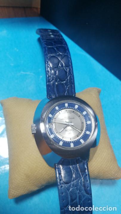 Relojes de pulsera: Botito reloj Orion grande de caballero con botita esfera azul marino, funcionando - Foto 17 - 139002582