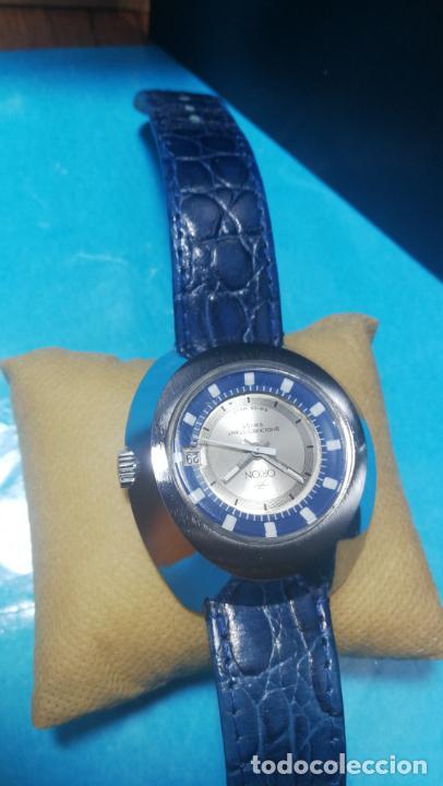 Relojes de pulsera: Botito reloj Orion grande de caballero con botita esfera azul marino, funcionando - Foto 18 - 139002582