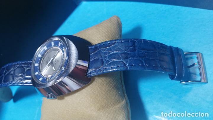 Relojes de pulsera: Botito reloj Orion grande de caballero con botita esfera azul marino, funcionando - Foto 19 - 139002582