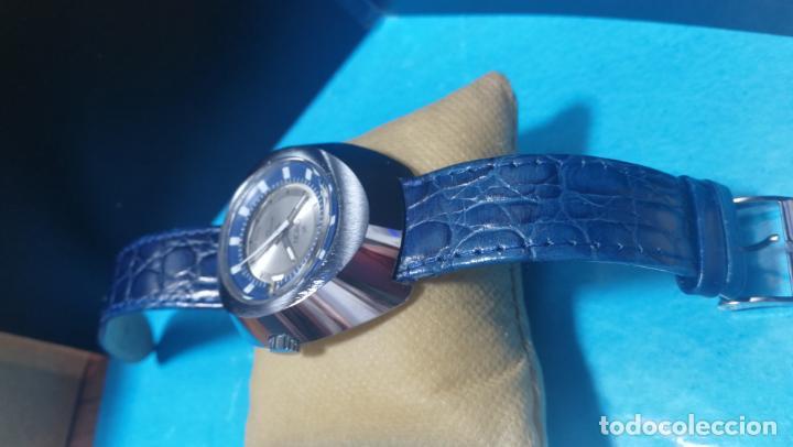 Relojes de pulsera: Botito reloj Orion grande de caballero con botita esfera azul marino, funcionando - Foto 20 - 139002582