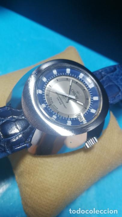 Relojes de pulsera: Botito reloj Orion grande de caballero con botita esfera azul marino, funcionando - Foto 22 - 139002582