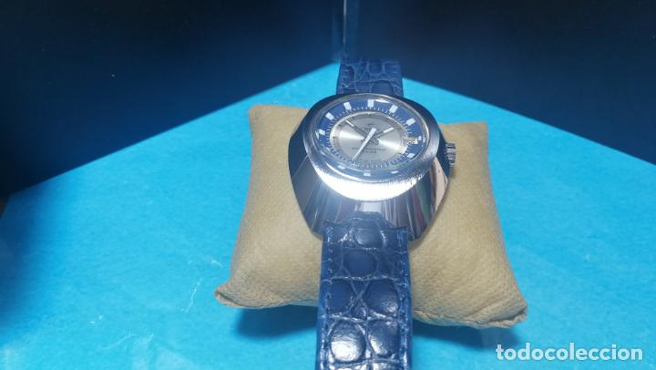 Relojes de pulsera: Botito reloj Orion grande de caballero con botita esfera azul marino, funcionando - Foto 23 - 139002582