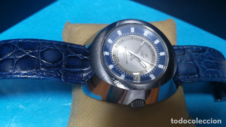 Relojes de pulsera: Botito reloj Orion grande de caballero con botita esfera azul marino, funcionando - Foto 24 - 139002582