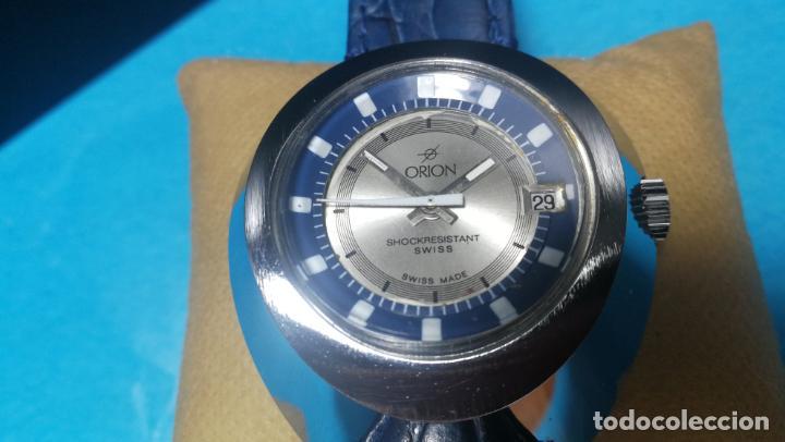 Relojes de pulsera: Botito reloj Orion grande de caballero con botita esfera azul marino, funcionando - Foto 26 - 139002582