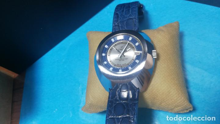 Relojes de pulsera: Botito reloj Orion grande de caballero con botita esfera azul marino, funcionando - Foto 28 - 139002582