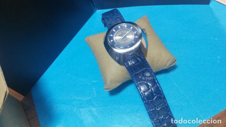 Relojes de pulsera: Botito reloj Orion grande de caballero con botita esfera azul marino, funcionando - Foto 29 - 139002582