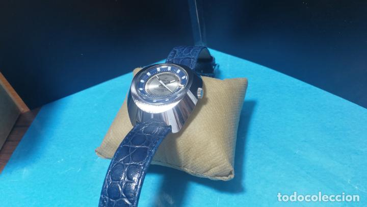 Relojes de pulsera: Botito reloj Orion grande de caballero con botita esfera azul marino, funcionando - Foto 30 - 139002582