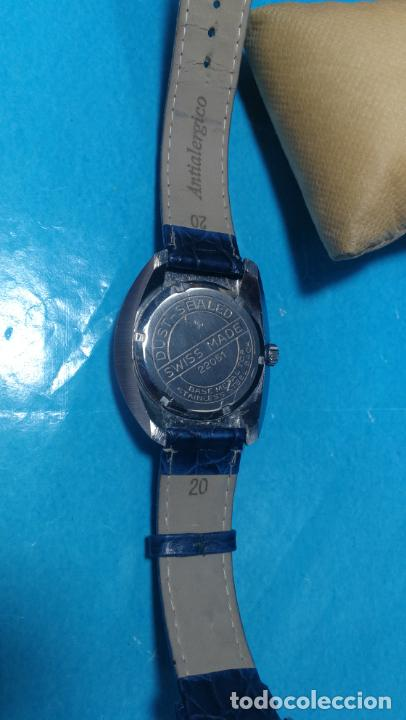 Relojes de pulsera: Botito reloj Orion grande de caballero con botita esfera azul marino, funcionando - Foto 31 - 139002582
