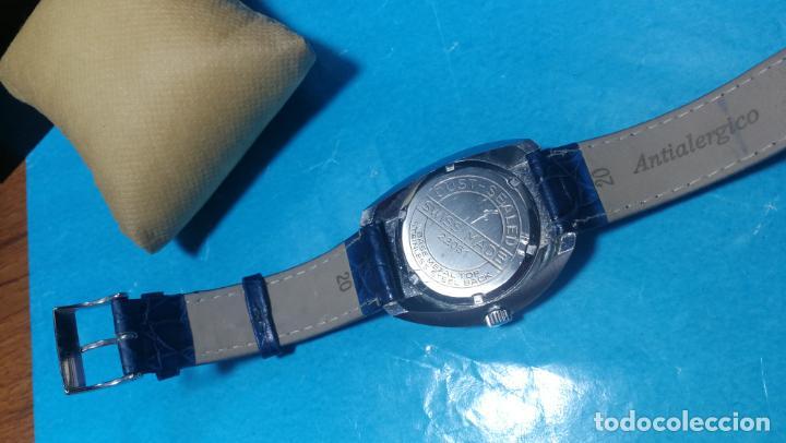 Relojes de pulsera: Botito reloj Orion grande de caballero con botita esfera azul marino, funcionando - Foto 33 - 139002582