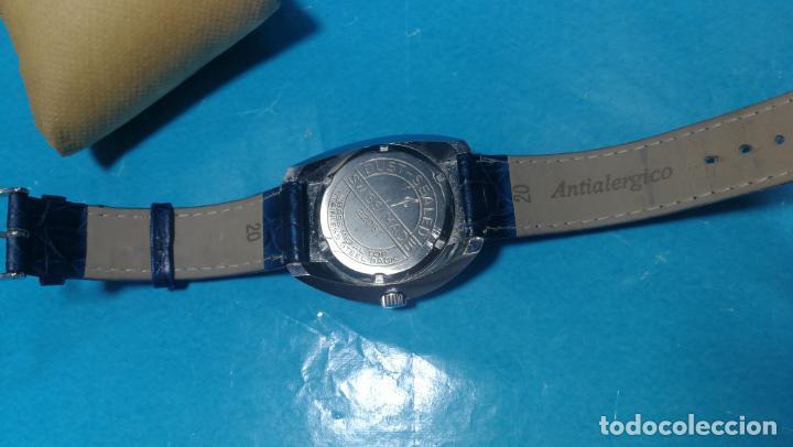 Relojes de pulsera: Botito reloj Orion grande de caballero con botita esfera azul marino, funcionando - Foto 40 - 139002582