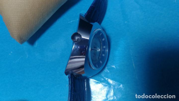 Relojes de pulsera: Botito reloj Orion grande de caballero con botita esfera azul marino, funcionando - Foto 42 - 139002582