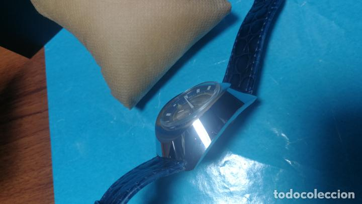 Relojes de pulsera: Botito reloj Orion grande de caballero con botita esfera azul marino, funcionando - Foto 43 - 139002582