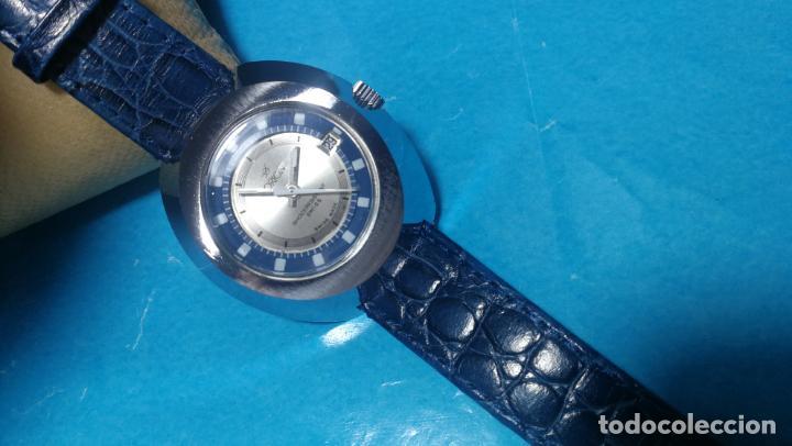 Relojes de pulsera: Botito reloj Orion grande de caballero con botita esfera azul marino, funcionando - Foto 44 - 139002582