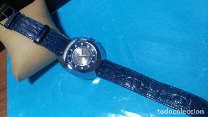 Relojes de pulsera: Botito reloj Orion grande de caballero con botita esfera azul marino, funcionando - Foto 45 - 139002582