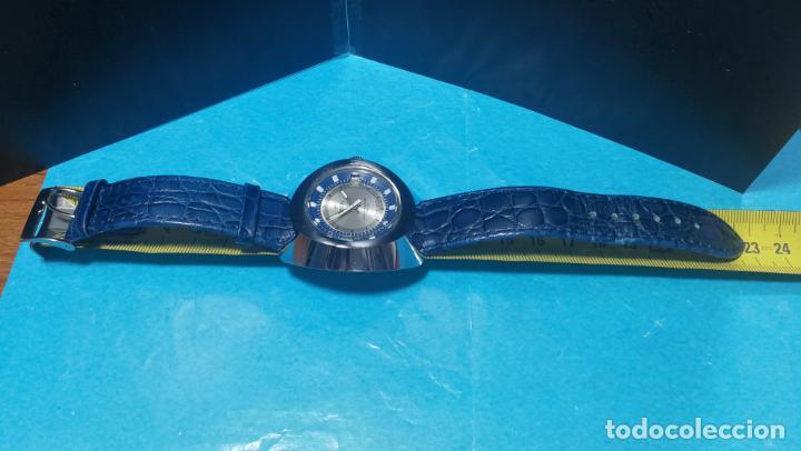 Relojes de pulsera: Botito reloj Orion grande de caballero con botita esfera azul marino, funcionando - Foto 46 - 139002582