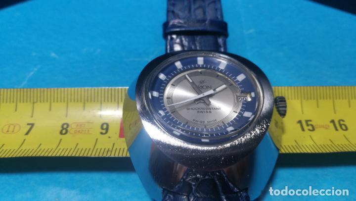 Relojes de pulsera: Botito reloj Orion grande de caballero con botita esfera azul marino, funcionando - Foto 48 - 139002582