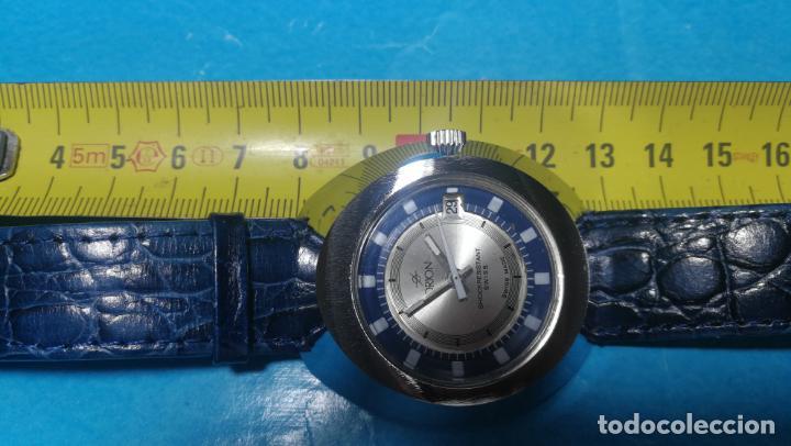 Relojes de pulsera: Botito reloj Orion grande de caballero con botita esfera azul marino, funcionando - Foto 49 - 139002582