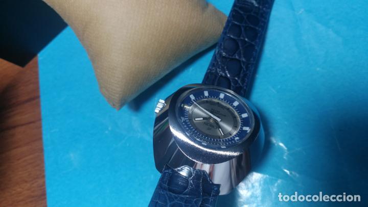 Relojes de pulsera: Botito reloj Orion grande de caballero con botita esfera azul marino, funcionando - Foto 54 - 139002582