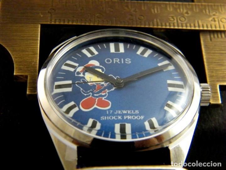 Relojes de pulsera: antiguo reloj oris disney.funcionando mickey. años 50. - Foto 4 - 139129818