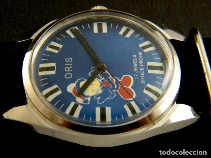 Relojes de pulsera: antiguo reloj oris disney.funcionando mickey. años 50. - Foto 5 - 139129818