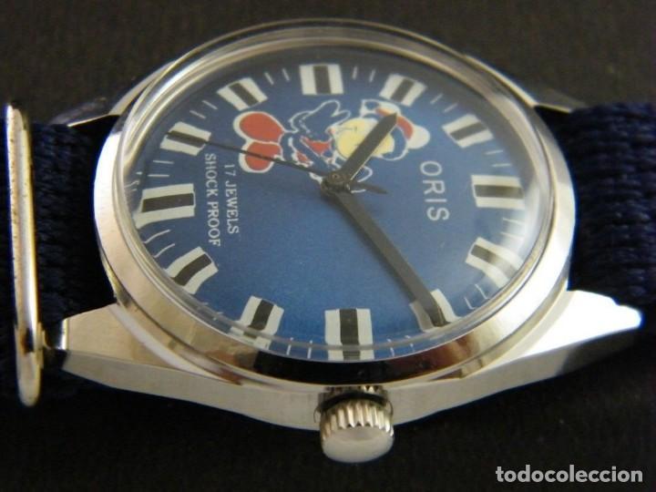 Relojes de pulsera: antiguo reloj oris disney.funcionando mickey. años 50. - Foto 6 - 139129818