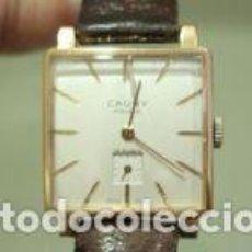 Relojes de pulsera: RELOJ CAUNY PRIMA LUNETTE-CARRURE PLAQUE OR 10 MICRONS 15 RUBIS A FUNCIONAR. Lote 139287446