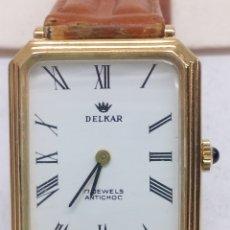 Relojes de pulsera: RELOJ DELKAR CARGA MANUAL CAJA CHAPADA ORO 17JEWERS. Lote 139453028