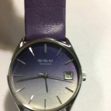 Relojes de pulsera: RELOJ REYBLAN CARGA MANUAL MAQUINARIA SWISS MADE CON ESFERA ESPECIAL LILA PARA COLECCIONISTAS. Lote 142767232