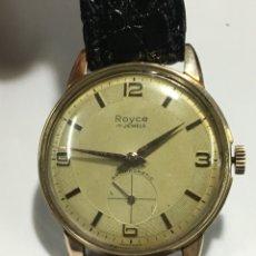 Relojes de pulsera: RELOJ ROYCE 17 JEWELS CARGA MANUAL Y CAJA CHAPADA ORO EN FUNCIONAMIENTO REPASADO. Lote 143633004
