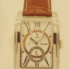 Relojes de pulsera: RELOJ DUWARD UNISEX ACERO Y PIEL. Lote 139740160