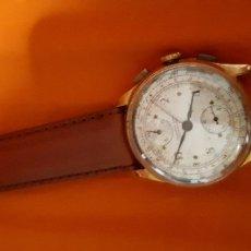 Relojes de pulsera: RELOJ ANTIGUO VENUS CRONOGRAFO DE 18 KL. Lote 139748214