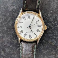 Relojes de pulsera: RELOJ DE CUERDA SIN MARCA, 33 MM S.C.C, FUNCIONA, ESFERA MOVIDA.. Lote 140094954