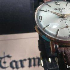 Relojes de pulsera: BOTITO RELOJ DE CUERDA ANTIGUO CLER WALCH, FUNCIONANDO, CHAPADO EN ORO,DE CABALLERO. Lote 140290502