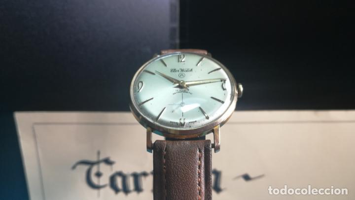 Relojes de pulsera: Botito reloj de cuerda antiguo Cler Walch, funcionando, chapado en oro,de caballero - Foto 2 - 140290502