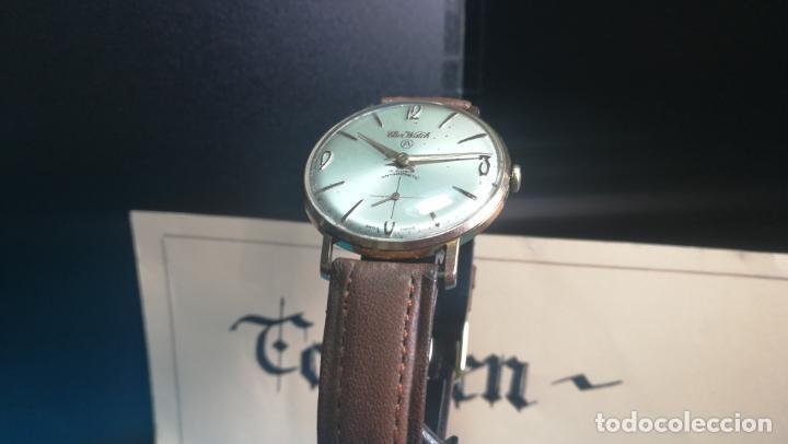 Relojes de pulsera: Botito reloj de cuerda antiguo Cler Walch, funcionando, chapado en oro,de caballero - Foto 3 - 140290502