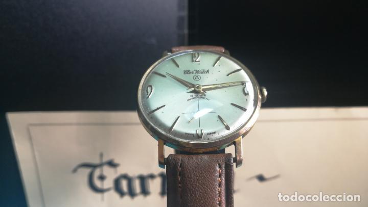 Relojes de pulsera: Botito reloj de cuerda antiguo Cler Walch, funcionando, chapado en oro,de caballero - Foto 4 - 140290502