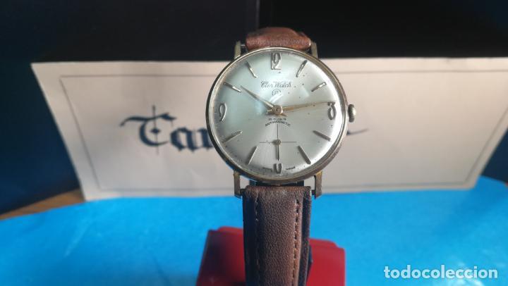 Relojes de pulsera: Botito reloj de cuerda antiguo Cler Walch, funcionando, chapado en oro,de caballero - Foto 5 - 140290502
