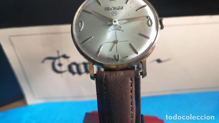 Relojes de pulsera: Botito reloj de cuerda antiguo Cler Walch, funcionando, chapado en oro,de caballero - Foto 8 - 140290502
