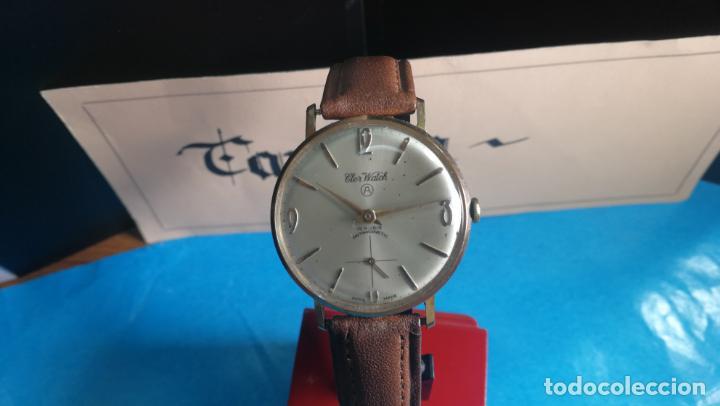 Relojes de pulsera: Botito reloj de cuerda antiguo Cler Walch, funcionando, chapado en oro,de caballero - Foto 9 - 140290502