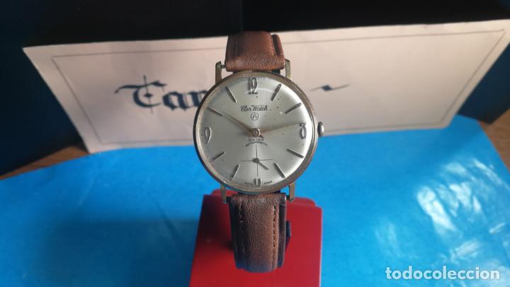 Relojes de pulsera: Botito reloj de cuerda antiguo Cler Walch, funcionando, chapado en oro,de caballero - Foto 10 - 140290502