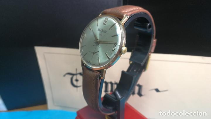 Relojes de pulsera: Botito reloj de cuerda antiguo Cler Walch, funcionando, chapado en oro,de caballero - Foto 12 - 140290502