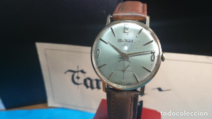 Relojes de pulsera: Botito reloj de cuerda antiguo Cler Walch, funcionando, chapado en oro,de caballero - Foto 13 - 140290502