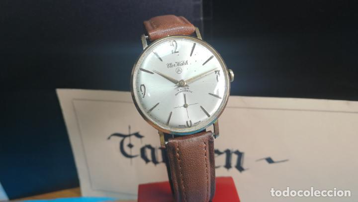 Relojes de pulsera: Botito reloj de cuerda antiguo Cler Walch, funcionando, chapado en oro,de caballero - Foto 14 - 140290502