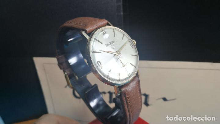 Relojes de pulsera: Botito reloj de cuerda antiguo Cler Walch, funcionando, chapado en oro,de caballero - Foto 15 - 140290502