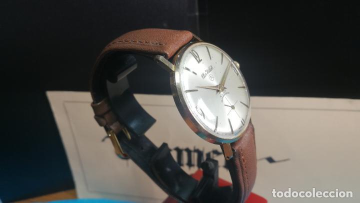 Relojes de pulsera: Botito reloj de cuerda antiguo Cler Walch, funcionando, chapado en oro,de caballero - Foto 18 - 140290502