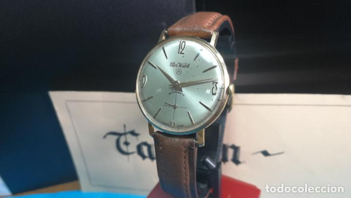 Relojes de pulsera: Botito reloj de cuerda antiguo Cler Walch, funcionando, chapado en oro,de caballero - Foto 19 - 140290502