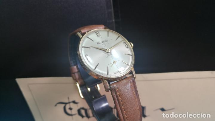Relojes de pulsera: Botito reloj de cuerda antiguo Cler Walch, funcionando, chapado en oro,de caballero - Foto 21 - 140290502