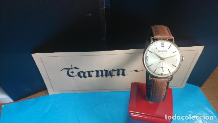 Relojes de pulsera: Botito reloj de cuerda antiguo Cler Walch, funcionando, chapado en oro,de caballero - Foto 22 - 140290502